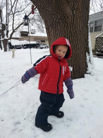 Snow suit man 2 yrs
